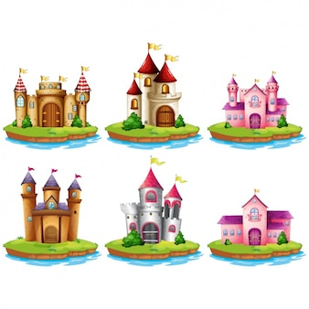 Coloured castles collection