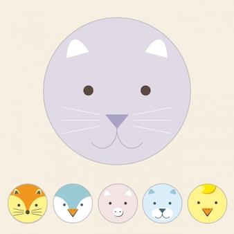 Coloured cat design
