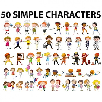 Coloured characters collection