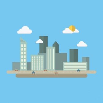 Coloured cityscape design