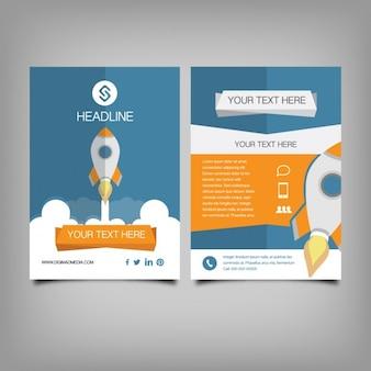 Coloured corporative brochure