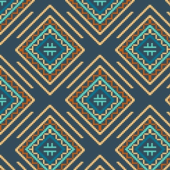 Coloured diamond shapes songket pattern