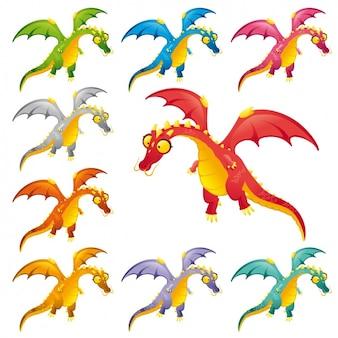 컬러 공룡 컬렉션