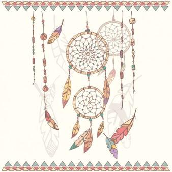 Coloured dreamcatcher design