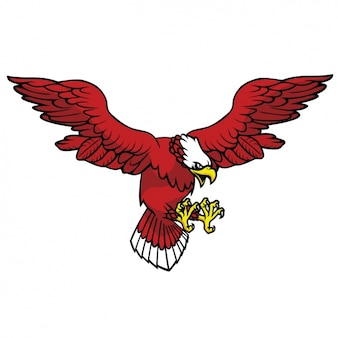 Coloured eagle design