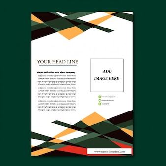 Coloured flyer template