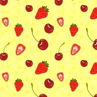 Цветной фон фрукты