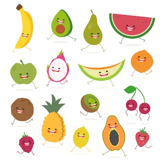 Coloured fruits collection