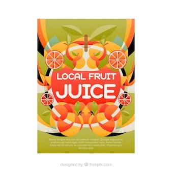 Coloured fuit juice poster
