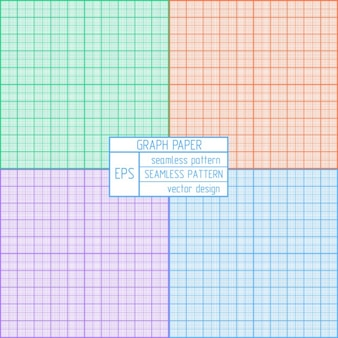 Coloured graph paper pattern
