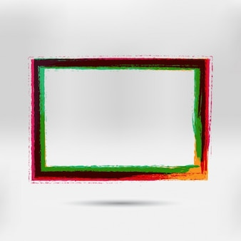 Coloured hand painted frame