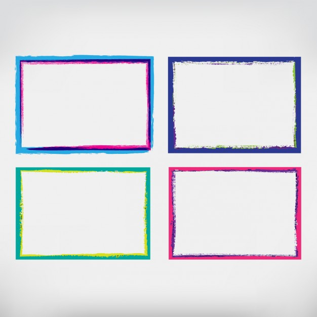Coloured hand painted frames