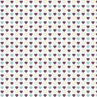 Coloured hearts pattern design