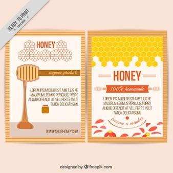 色とりどり蜂蜜店のチラシ
