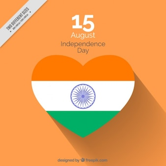 Coloured india dindependence day design