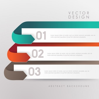 Coloured infographic template
