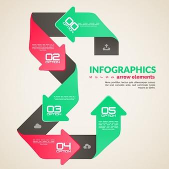 Colorato modello infografica