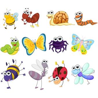 Коллекция цветное насекомых