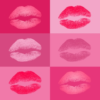 Coloured kisses collection