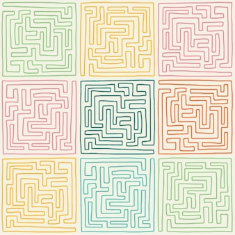 Coloured labyrinths collection