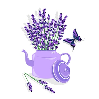 Coloured lavender design