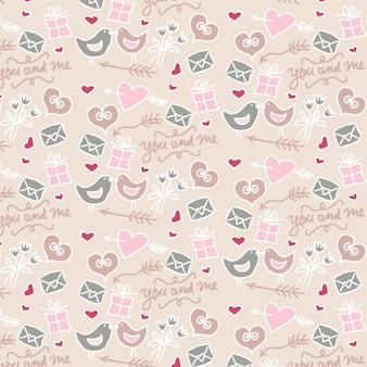 Coloured love pattern