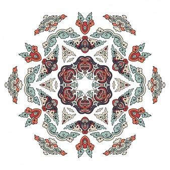 Цветное дизайн мандалы