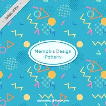 Coloured memphis design pattern