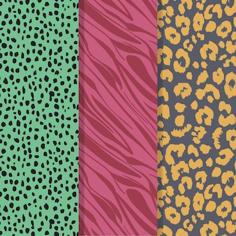 Coloured modern wildlife fur pattern