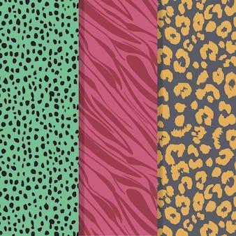 컬러 현대 야생 동물 모피 패턴