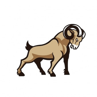 Coloured mouflon design