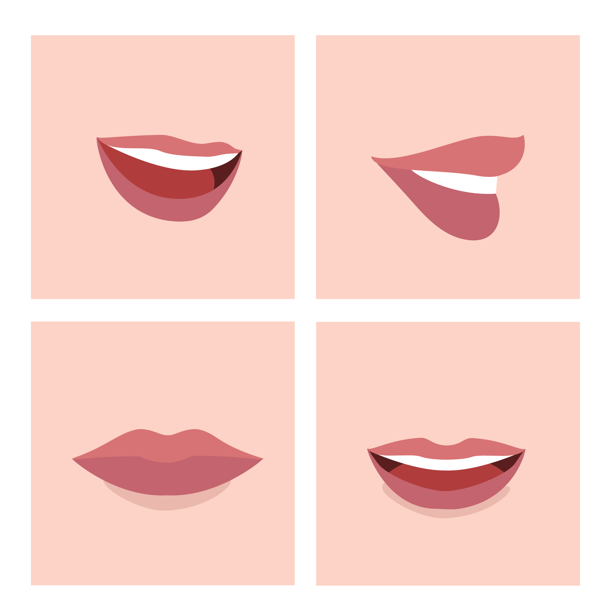 Coloured mouths collection