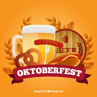 Coloured oktoberfest background
