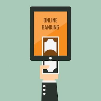 Coloured online banking design