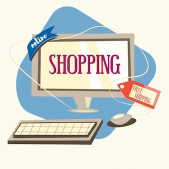Coloured online shopping design