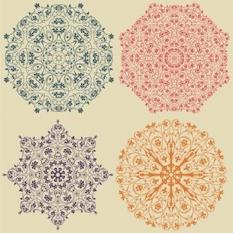 Coloured ornaments design