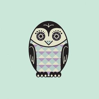 Coloured owl design