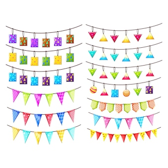 Coloured pennants collection