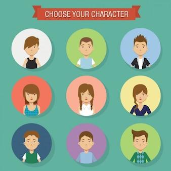 Colorati persone avatar