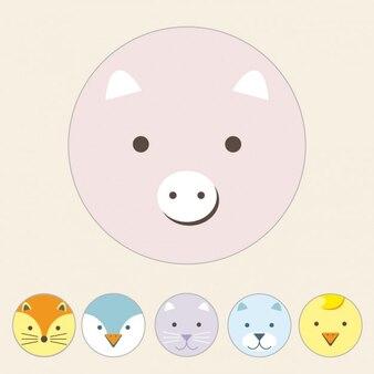 Coloured pig design
