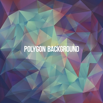 Coloured polygonal background