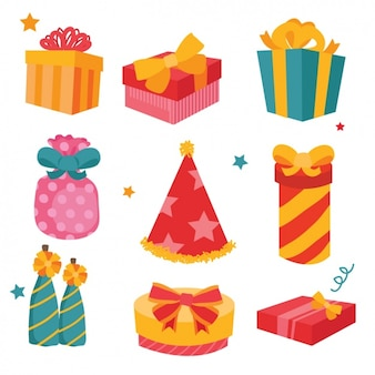 Coloured presents designs