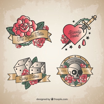 Coloured roses tattoo collection