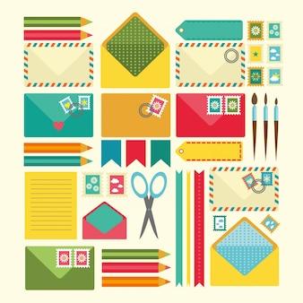 Coloured scrapbooking elements
