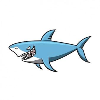 Цветное дизайн акула