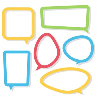 Coloured speech bubbles collection