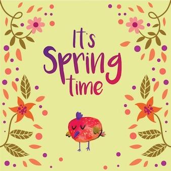 Coloured springtime background