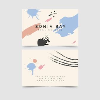 Цветные пятна ручная роспись визитная карточка