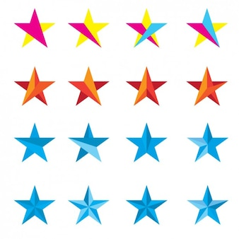 Coloured stars collection