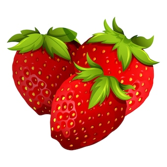 Coloured strawberries design